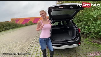 MyDirtyHobby - Busty babe has sex on the back of her car