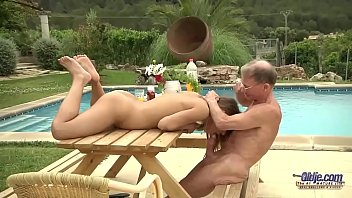 Tighty Body Young Girl Fucked Grandpa Sucked his Old Cock and Licked pussy Image