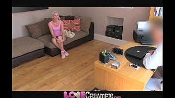 Love Creampie Tall slim amateur blonde is a natural on the casting couch thumbnail