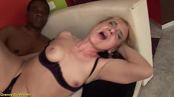 74 years old mom enjoys her first black dick 12 min