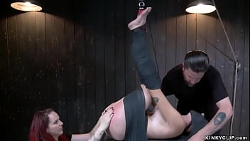 Babe whipped in pile driver position