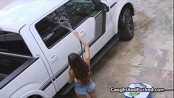 Cheap pocket pussys Carwash chick rides my cock