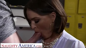 Krissy Lynn has heard rumor's about how big her student's cock is.  She decides she needs to find out for herself so she keeps  him after class for some lessons in  anatomy.