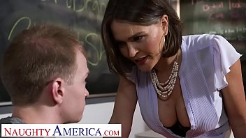 Naughty America - Professor Krissy Lynn takes her students cock