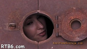 Pleasing babe is getting intense facial torture from slavemaster