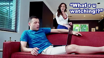 Stepmom Ally Cooper Catches Her Pornstar Step Son Watching His Own Porn