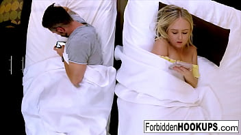 sexy blonde fucks her horny step brother min