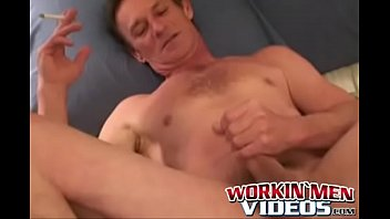 Old guy gives us solo show with masturbation cumshot