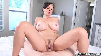 Catalina Cruz Horny Housewife gets dick and creampie