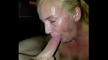 Wife swallows 14 loads down her throat compilation