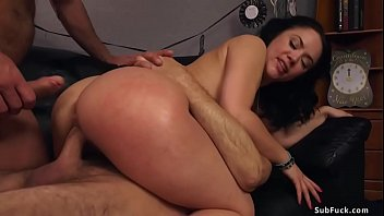 Hot ass brunette wife is group fucked