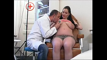 Perverse gynaecologist tastes the patient's pussy thumbnail