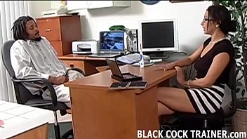 Interracial office - I cant wait to ride this ebony stallion