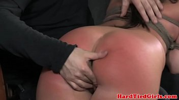 Adult over the knee spanking - Ballgagged mia gold over the knee spank