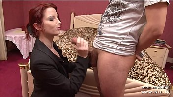 Gorgeous nice titted redhead french Julie Valmont banged and facialized 15 min