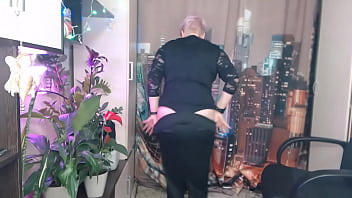 Immodest dancing of juicy Russian milf AimeeParadise.!.