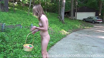 Teens in nude - Tiny teen braces naked easter egg hunt