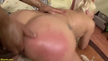 crazy unshaved granny gets extreme deep and rough interracial double fist fucked by her big dick toyboy