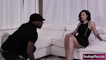 Tattooed Harlow gets fuck by black cock