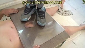 UNDER-SHOES TRAMPLE & CBT WITH OUR NEW BRUTAL GODDESS MISS NATHY