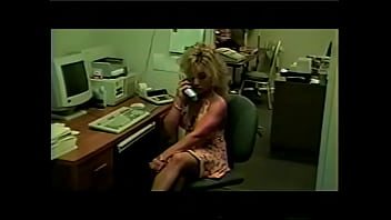 Curvaceous blonde secretary Montana Gunn spends her working time in a meaningful way: she's got some toys from adult shop she needs to test and write detailed report
