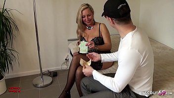 German h. Tits MILF Hooker Fuck with Virgin Young Guy for Cash