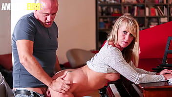LA NOVICE - (Stella & Bruno) Sexy French Cougar Fucks Takes It Rough From Piano Teacher