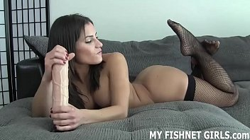 Teasing your cock in fishnets makes me feel so sexy JOI