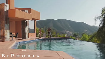 BiPhoria - Married Couple Both Want To Fuck The Pool Boy