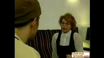 Redhead German grandmother fucking
