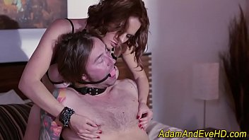 Busty domina gobbles cock