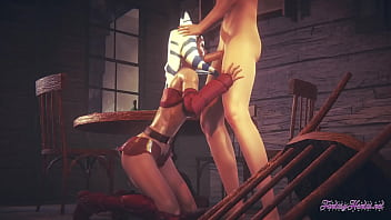 Star Wars Ahsoka 3d 4K - Fucked and blowjob with cumshot in her mouth