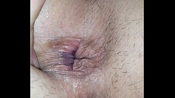 Cum filled pussy and ass getting fingered