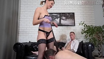 Young dominant wife and elderly cuckold thumbnail