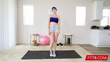 FIT18 - Wild Blue Hair Jewelz Blu With The Perfect Pussy