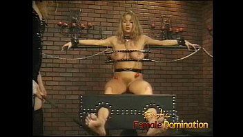 Big tits girl is a perfect subject for some painful female domination-6