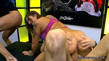 Heidi van horny shows gagging and ass licking