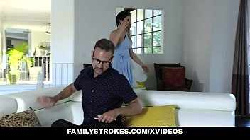 FamilyStrokes - StepDad Punishes His StepDaughter (Candy White) With A Hardcore Pounding