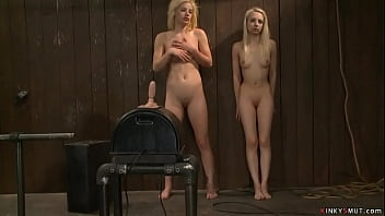 Blonde lesbians licking in sixtynine