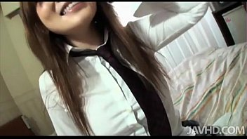 Adorable Yuu Gives Her Boss A Blowjob And He Leaves Her Sticky With Cum