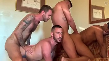 Owen Powers, Seth Knight, Cris Knight, Ryan Powers, Dave Austin – Five Man GangBang!!!! (Bareback)