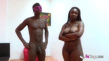 Chubby ebony girl Chanel doesn't have second thoughts about sucking her stepbrother's cock for 100€