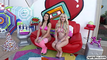NYMPHO Two on one fun with Lilly Bell and Kylie Rocket 12 min