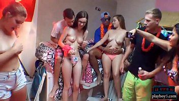 Dorm room beach party with college teens becomes orgy