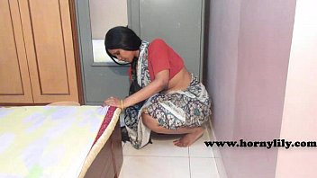 Screwing the indian maid pussy Indian maid with no panties