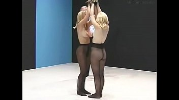 Simultaneous spanking of two women