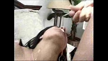Obsession getting a creamy load in her hot face 38 sec