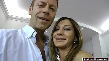 Rocco Siffredi meets up busty romanian Alice Romain.He starts kissing her and he then fingers her pussy.In return Alice throats his big cock and licks his ass.After that,Rocco licks her ass first before he fucks it deep and hard.
