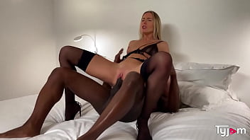 Hot blonde Angelika Grays tries a huge BBC