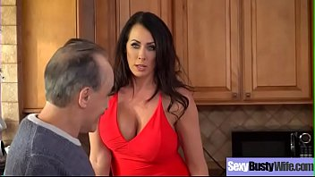 Hot Big Tits Housewife (Reagan Foxx) Get Banged Hard Style On Tape vid-21